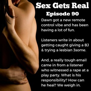 It's 2016! On this week's episode of Sex Gets Real, Dawn and Dylan check out Dawn's new vibrator, listeners write in with juicy confessions, and a listener asks for help after witnessing a friend getting raped at a play party.