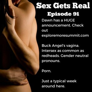 On this week's episode of Sex Gets Real, Dawn has a HUGE announcement about the Explore More Summit she created. Dylan talks gender neutral pronouns, and we discuss trans bodies, intersex folks, and porn.