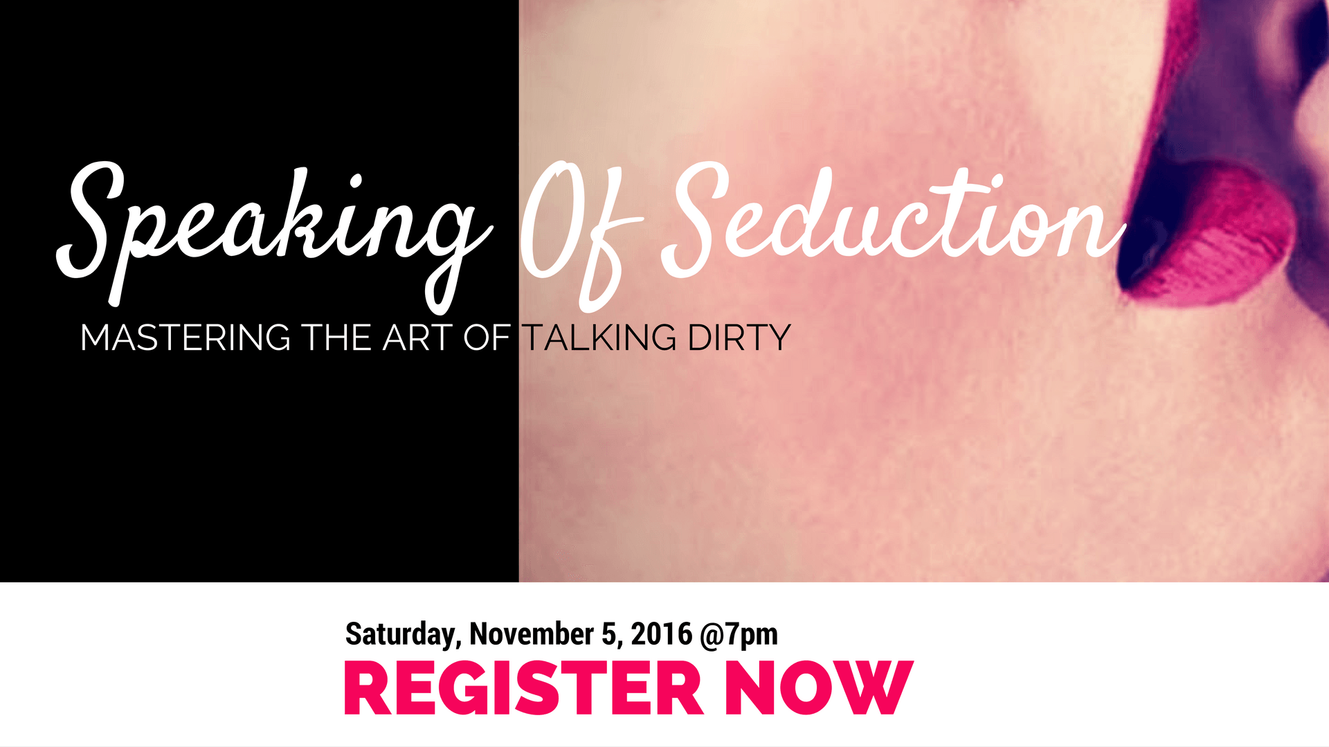 Ready to learn how to talk dirty? Dawn Serra is teaching the fine art of dirty talk and seduction at Secret Pleasures Boutique in DC.