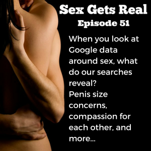 On this episode of Sex Gets Real, Dawn and Dylan explore a recent New York Times article on what Google data shows we're searching for when it comes to sex. Sadly, it's mostly about penis size, vagina smells, and other insecurities. What are you searching for when you think no one is looking?