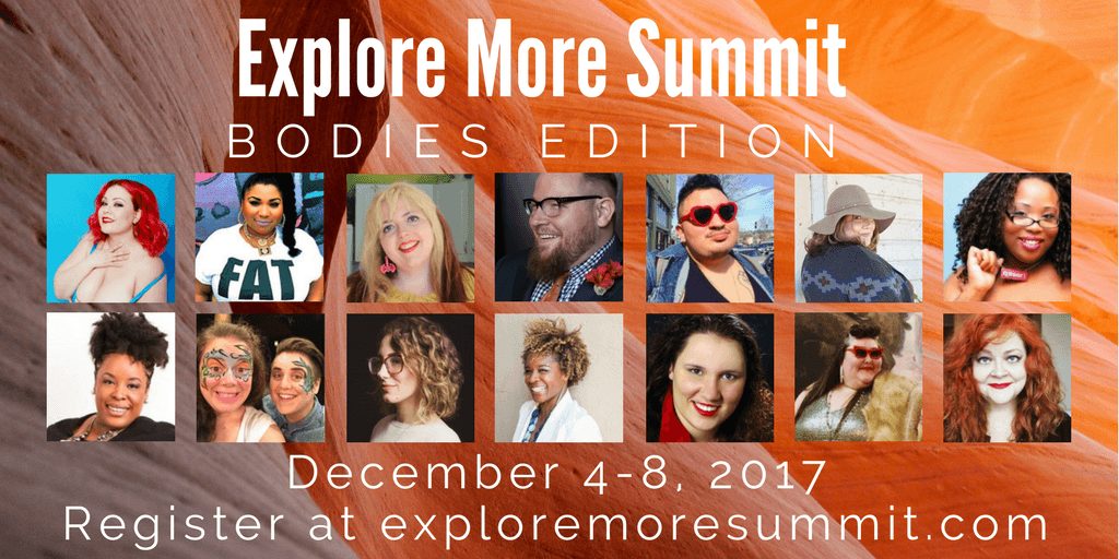 It kicks off December 4th and it's totally free. We'll spend 5 days going super deep into body politics, self acceptance, fat activism, diet culture, weight stigma, and shedding body shame so we can center our pleasure.